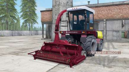Palesse 2U250А dark moderate red color for Farming Simulator 2017