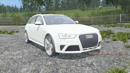 Audi RS 4 Avant (B8) 2012 gainsboro for Farming Simulator 2015