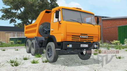 KamAZ-55111 bright orange color for Farming Simulator 2015