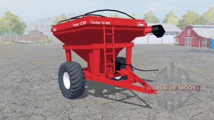 Jan Tanker 10.500 coral red for Farming Simulator 2013
