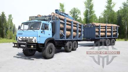 KamAZ-4310 gently blue color for MudRunner