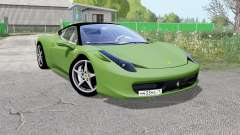 Ferrari 458 Italia grass for Farming Simulator 2017