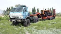 KamAZ-4310 soft-blue color for MudRunner