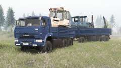 KamAZ-6522 deep blue color for Spin Tires