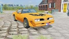 Pontiac Firebird Trans Am 1977 yellow orange for Farming Simulator 2015