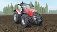 Massey Ferguson 7714-7726 S coral red for Farming Simulator 2017