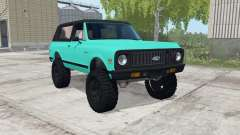 Chevrolet K5 Blazer bright turquoise for Farming Simulator 2017
