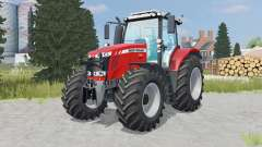 Massey Ferguson 7616 added wheels for Farming Simulator 2015
