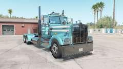 Kenworth W900A aquamarine blue for American Truck Simulator