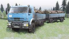 KamAZ-43118 bright blue color for Spin Tires