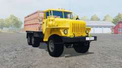Ural-5557 with the trailer for Farming Simulator 2013