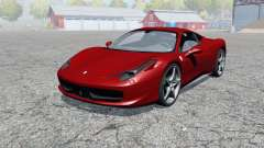 Ferrari 458 Italia 2009 for Farming Simulator 2013