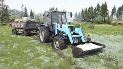 MTZ-82.1 Belarus soft-blue color for MudRunner