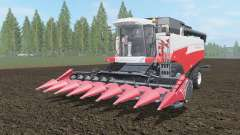 Acros 595 Plus coral red color for Farming Simulator 2017