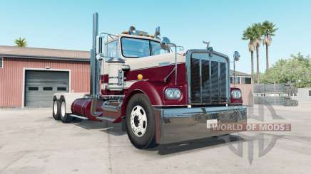 Kenworth W900A bordeaux for American Truck Simulator