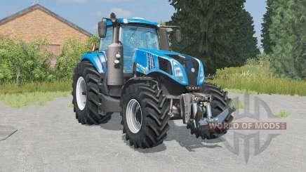 New Holland T8.320 lowering tire pressure for Farming Simulator 2015