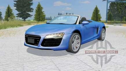 Audi R8 V10 Spyder ocean boat blue for Farming Simulator 2015