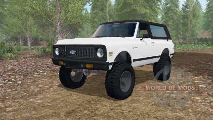 Chevrolet K5 Blazer lifted for Farming Simulator 2017