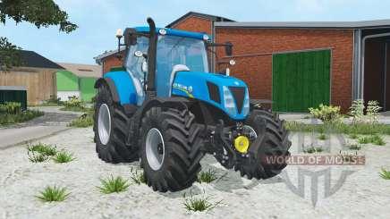 New Holland T7.170 spanish sky blue for Farming Simulator 2015