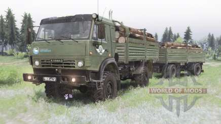 KamAZ 4350 camo-green color for Spin Tires