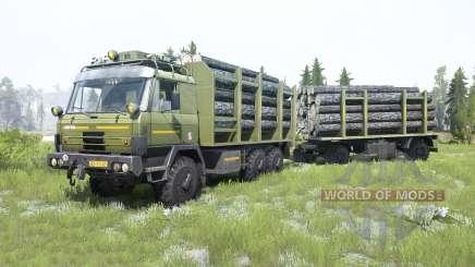Tatra T815 VVN 20.235 6x6 moss green for MudRunner