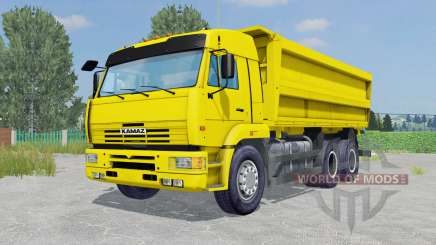 KamAZ-45143 yellow color for Farming Simulator 2015