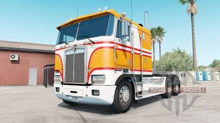 Kenworth K100E yellow orange for American Truck Simulator