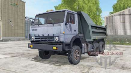 KamAZ-55111 greyish blue Okas for Farming Simulator 2017