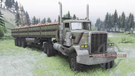 Peterbilt 379 Day Cab for Spin Tires