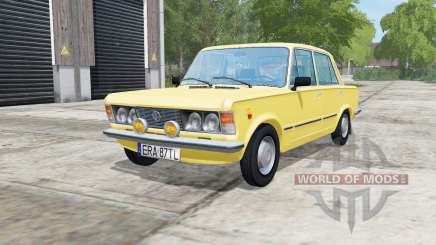 Fiat 125p arylide yellow for Farming Simulator 2017