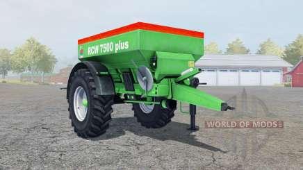 Unia RCW 7500 plus for Farming Simulator 2013
