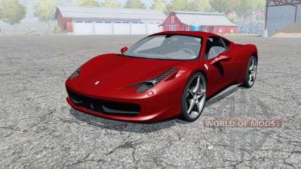 Ferrari 458 Italia 2009 for Farming Simulator 2013