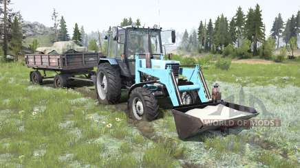 MTZ-82.1 Belarus soft-blue color for MudRunner