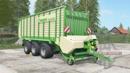 Krone ZX 550 GD chateau green for Farming Simulator 2017