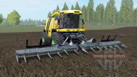 Krone BiG X 1100 banana yellow for Farming Simulator 2017