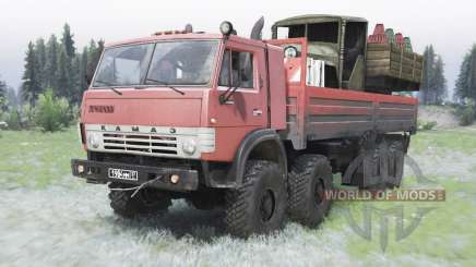 KamAZ-63501 moderately red color for Spin Tires