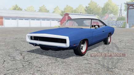 Dodge Charger RT (XS29) 1969 klein blue for Farming Simulator 2013