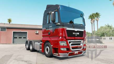 MAN TGX rosso corsa for American Truck Simulator