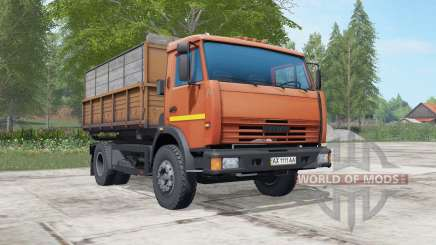 KamAZ-43255 orange Okas for Farming Simulator 2017