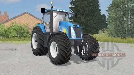 New Holland T8020 process cyan for Farming Simulator 2015