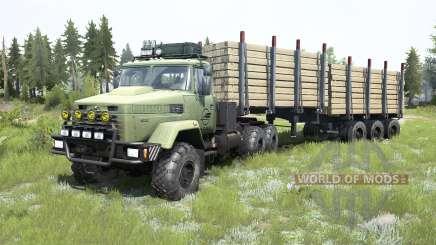 KrAZ-6322 grayish-green color for MudRunner