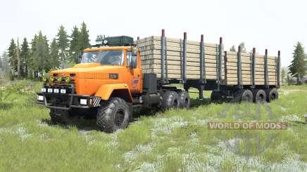 KrAZ-6322 bright orange color for MudRunner