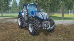 New Holland T8.320  lowering tire pressure for Farming Simulator 2015