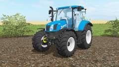 New Holland T6.160 vivid cerulean for Farming Simulator 2017