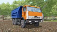 KamAZ-55111 bright orange color for Farming Simulator 2017