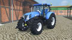 New Holland T7.210 change wheels for Farming Simulator 2013
