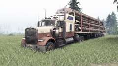 Kenworth W900 rose taupe for Spin Tires
