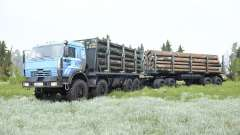 KamAZ-6350 soft-blue color for MudRunner