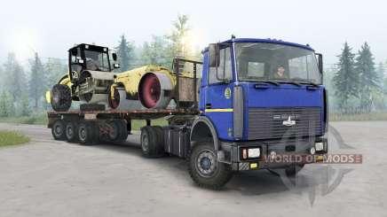 MAZ-5434 dark blue color for Spin Tires