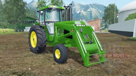 John Deere 4455 front loader islamic green for Farming Simulator 2015